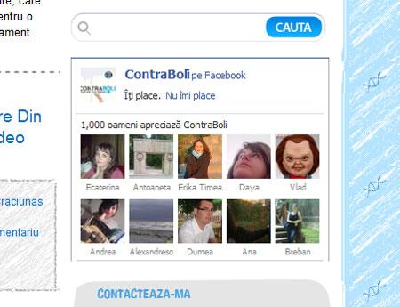 1000 de fani Faceebook