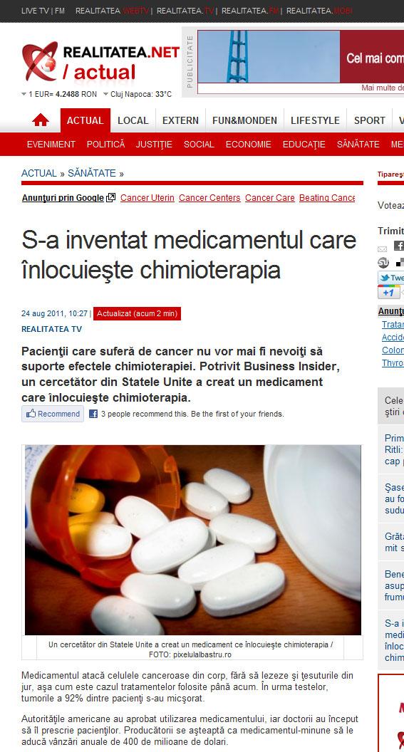 Realitatea TV a Descoperit Medicamentul Care Nu E Medicament