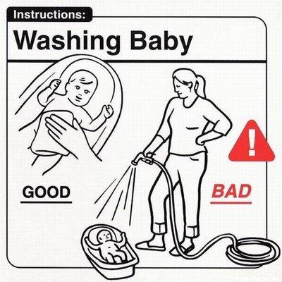 cum sa speli un bebelus