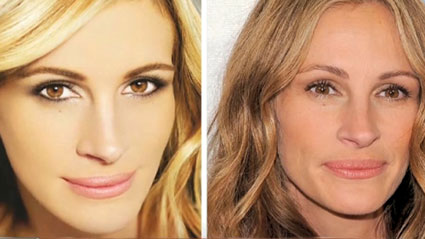 Julia Roberts - editarea care a dus la banarea Photoshopului in UK