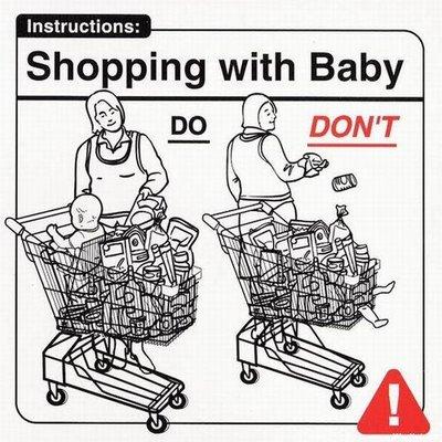 la cumparaturi cu un bebelus