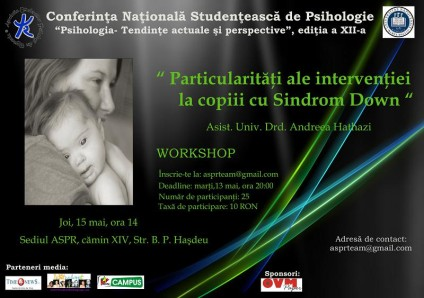 particularitati ale interventiei la copiii cu sindrom down