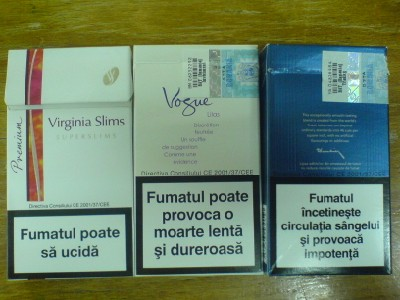 virginia slims, vogue, dunhill
